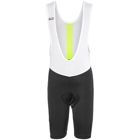 Northwave Logo Kid 3 Bib Shorts black-yellow fluo